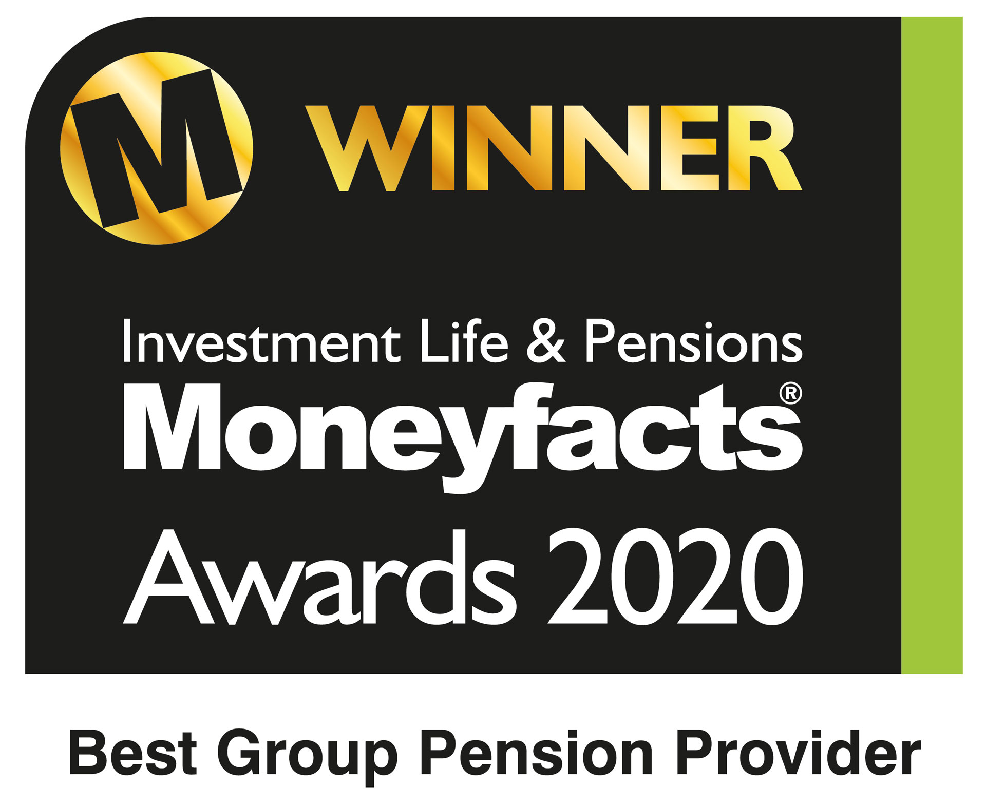 2020 - Best Group Pension Provider