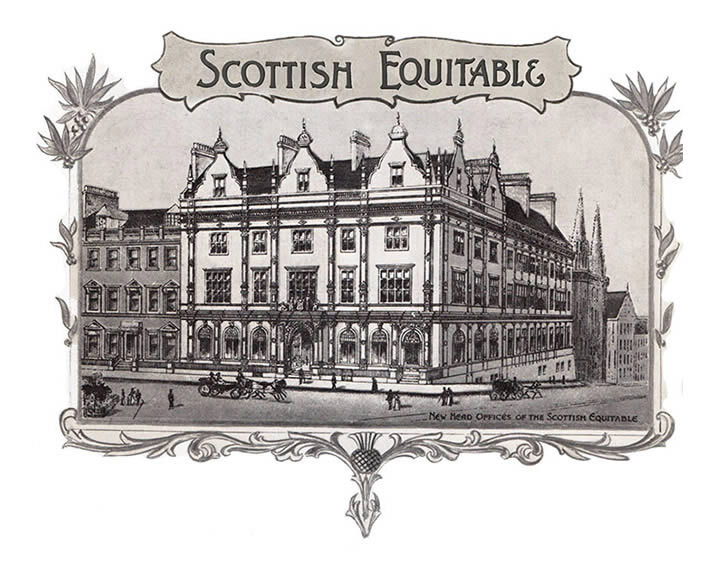 Original Scottish Equitable offices in St. Andrews Square, Edinburgh