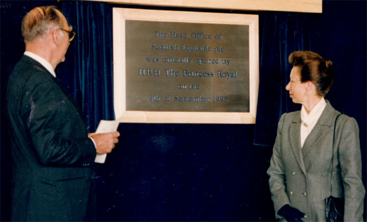 They opening of the new Edinburgh Park office building in 1996