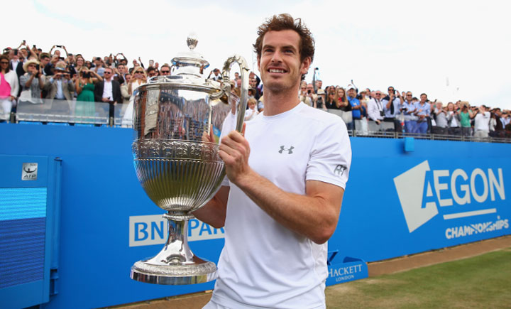Andy Murray British number one wins the Aegon Champioonship in 2009