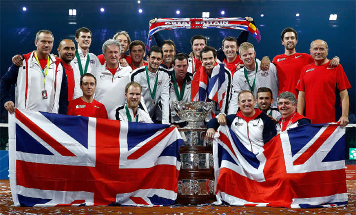 2015 Davis Cup winning British Tennis Team