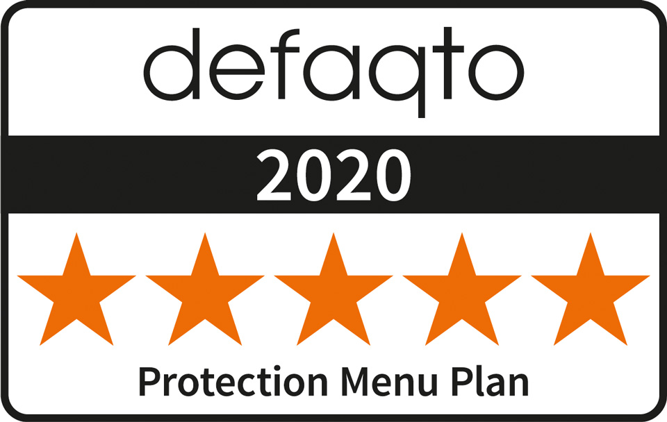 defaqto 2019 - 5 star Protection Menu Plan