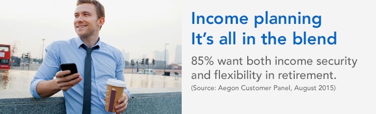 Latest promotional material for Aegon's Secure retirement income