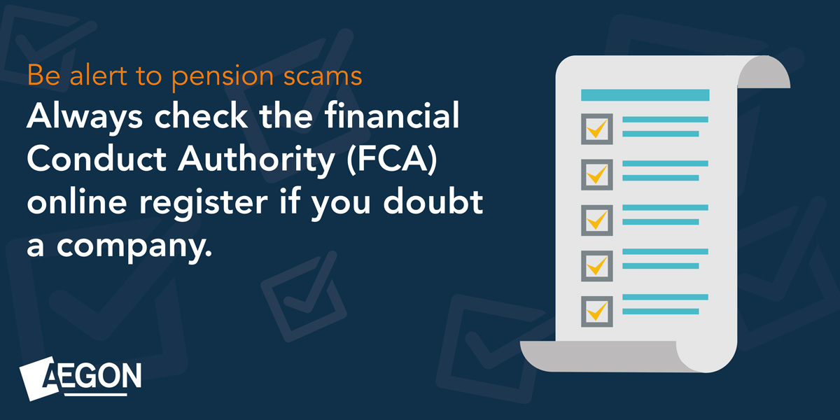 Always check the financial conduct authority online register if you doubt a company